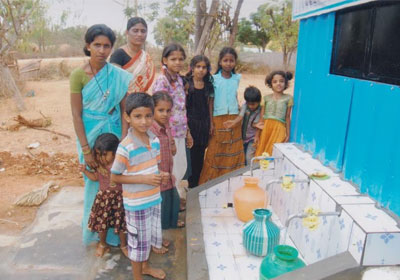 Provide clean drinking water in floride effected areas