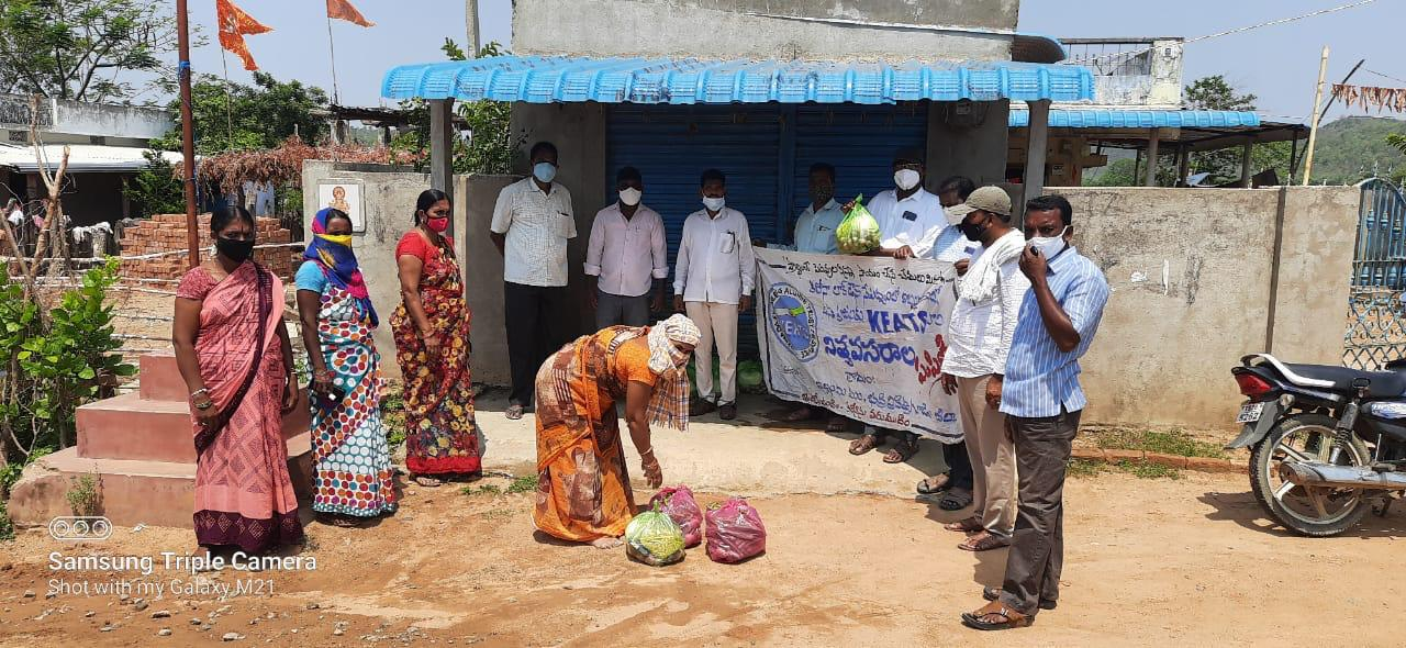 Supply of food items by KEATS to COVID affected tribal villages
